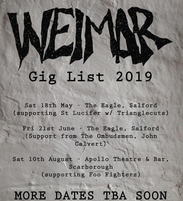 Weimar new gig list
