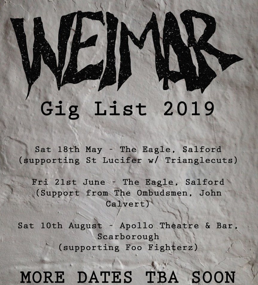 Weimar new gig list